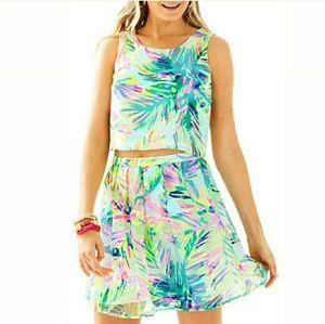 EUC Lilly P 6 Hilah Crop Skirt Set Multi Island